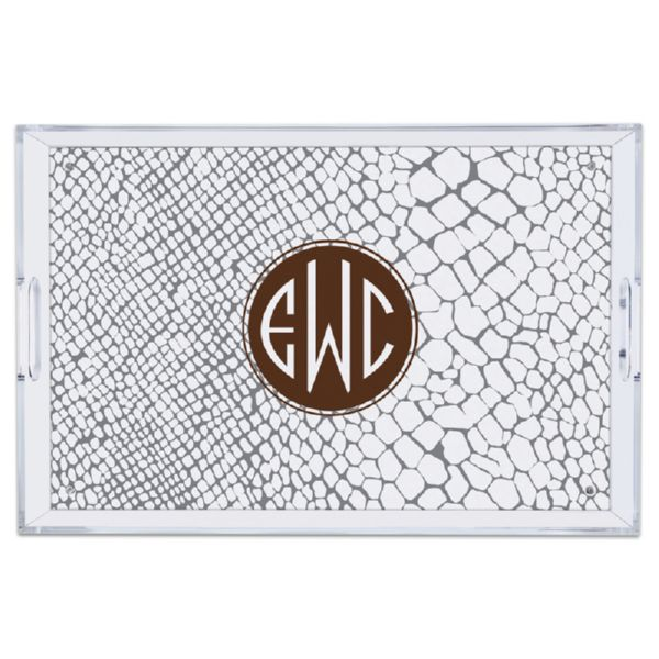 Snakeskin Personalized Large Serving Tray (Lucite)