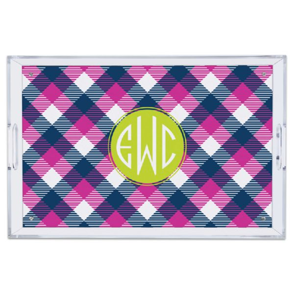 Tartan Personalized Large Serving Tray (Lucite)