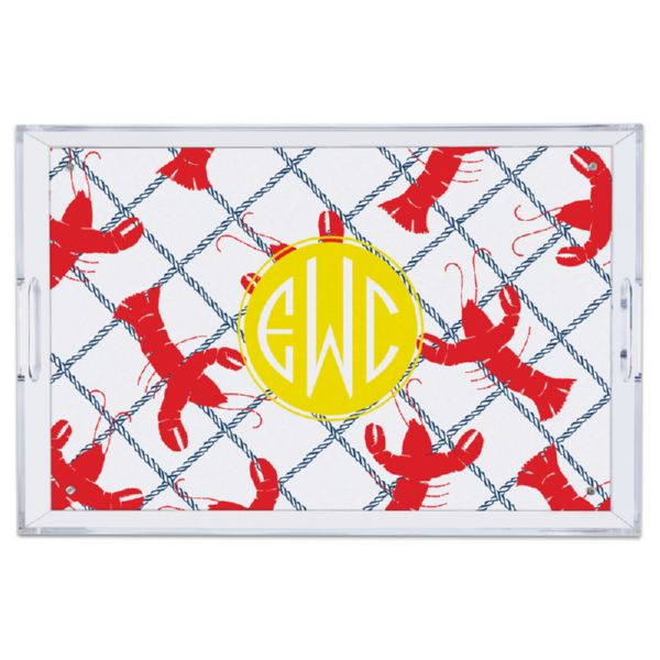 Rock Lobster Personalized Large Serving Tray (Lucite)