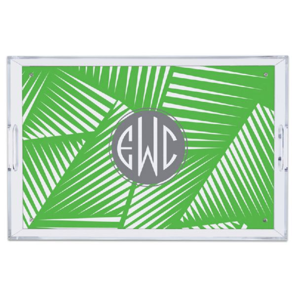 Palm Personalized Large Serving Tray (Lucite)