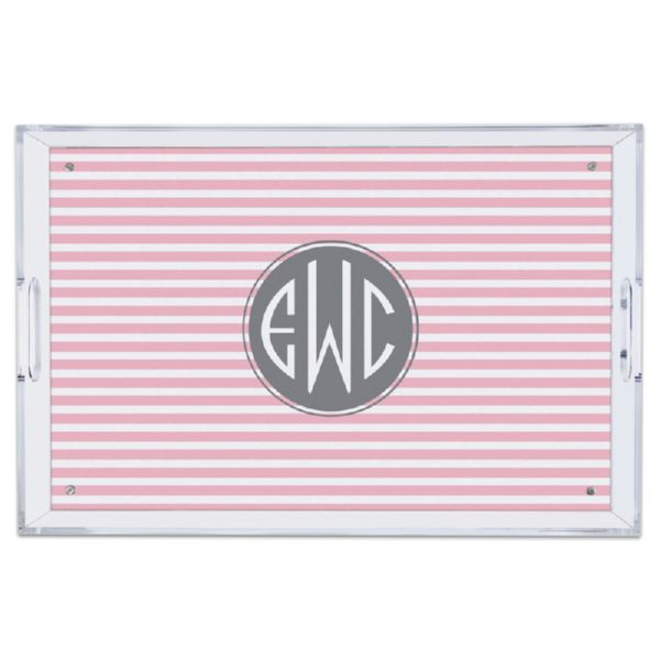 Cabana 2 Personalized Large Serving Tray (Lucite)