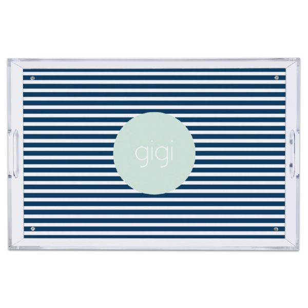 Cabana 3 Personalized Large Serving Tray (Lucite)