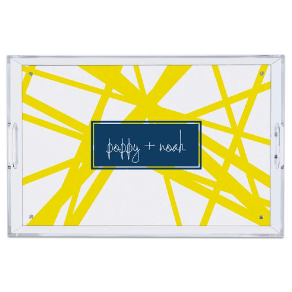 Pick Up Stix Personalized Large Serving Tray (Lucite)