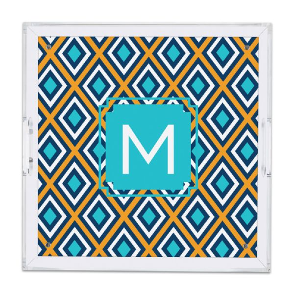 Lantern Personalized Square Serving Tray (Lucite)