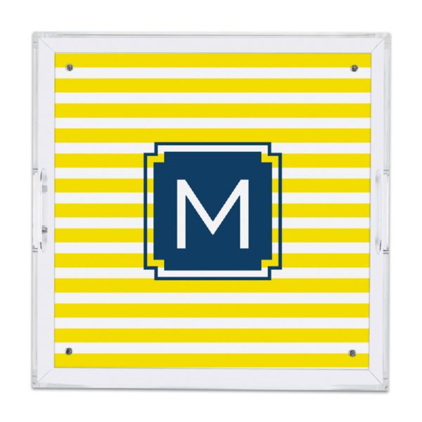 Cabana Personalized Square Serving Tray (Lucite)