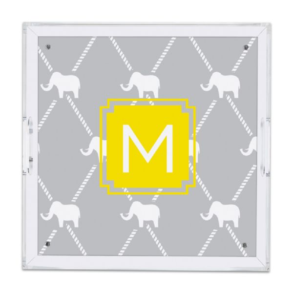 Dumbo Personalized Square Serving Tray (Lucite)
