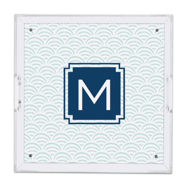 Ella Personalized Square Serving Tray (Lucite)