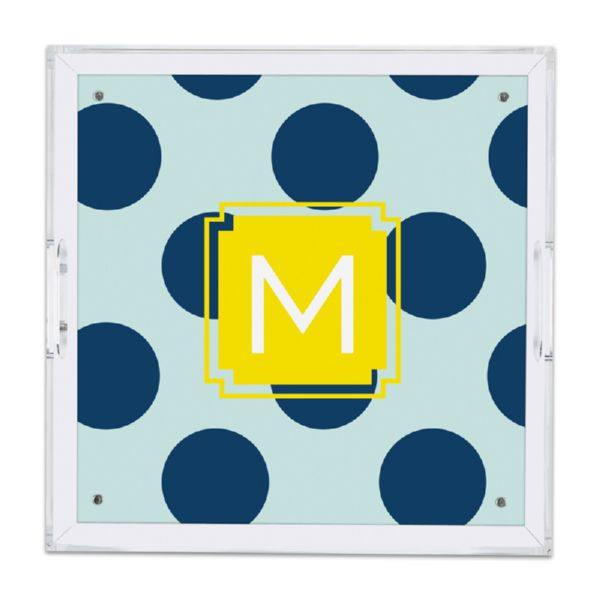 Jane Personalized Square Serving Tray (Lucite)