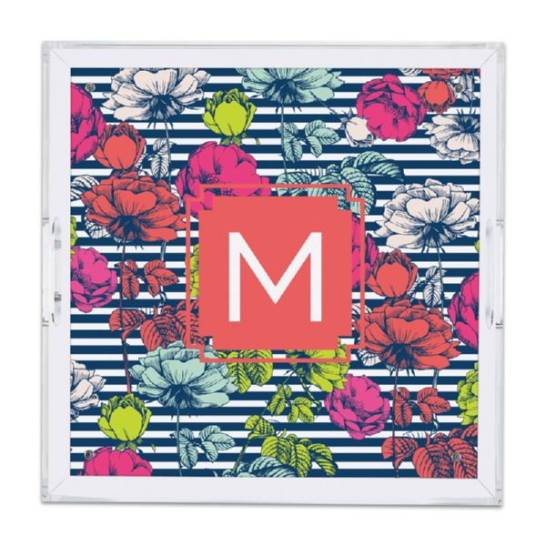 Millie Personalized Square Serving Tray (Lucite)