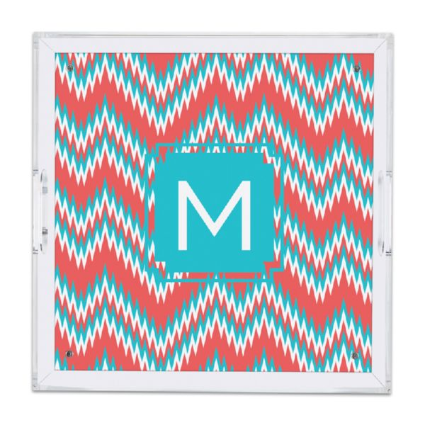 Mission Fabulous Personalized Square Serving Tray (Lucite)