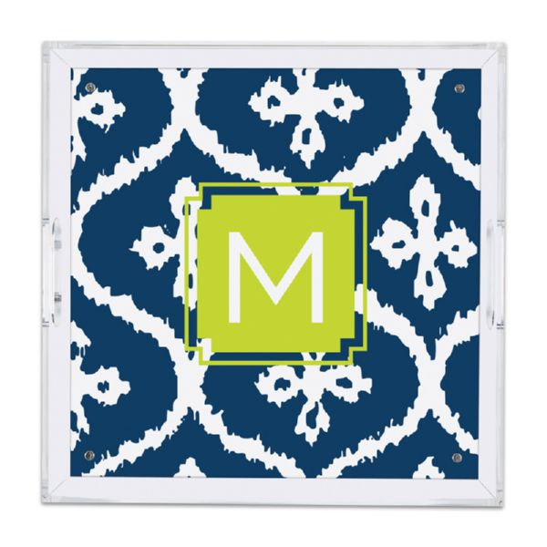 Montauk Personalized Square Serving Tray (Lucite)