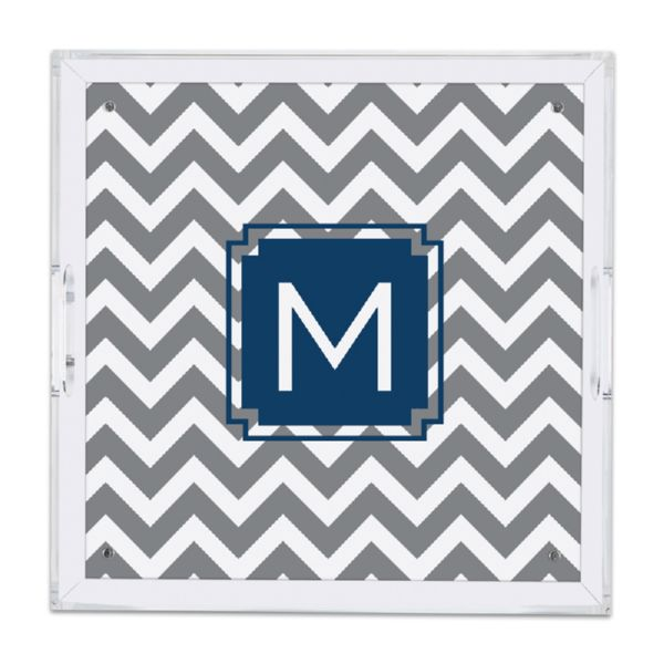 Ollie Personalized Square Serving Tray (Lucite)