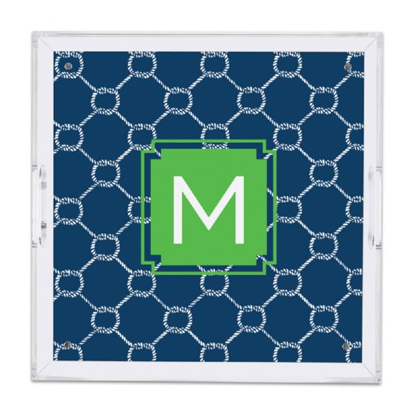 Rope Personalized Square Serving Tray (Lucite)