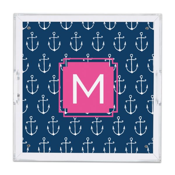 Salty Personalized Square Serving Tray (Lucite)
