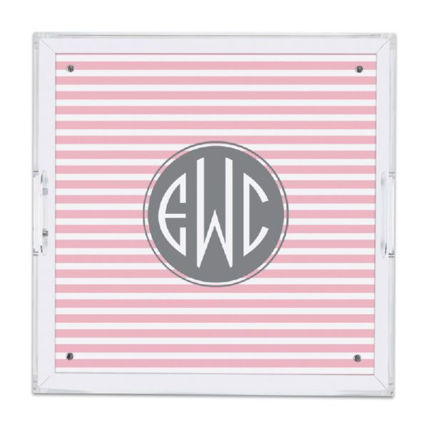 Cabana 2 Personalized Square Serving Tray (Lucite)