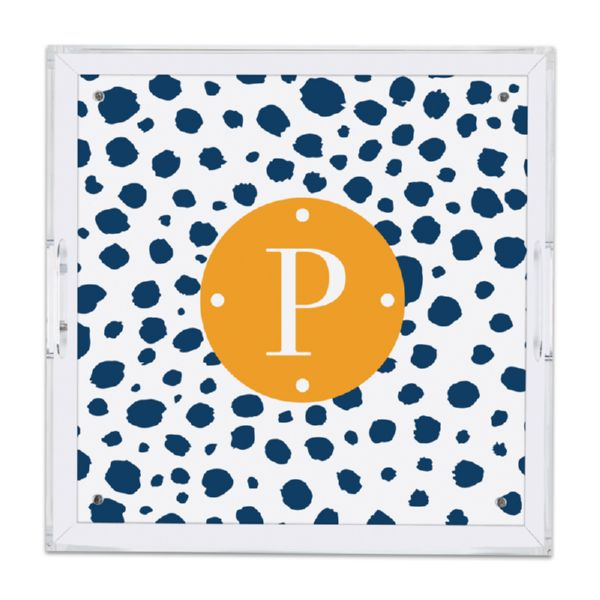 Cheetah Personalized Square Serving Tray (Lucite)