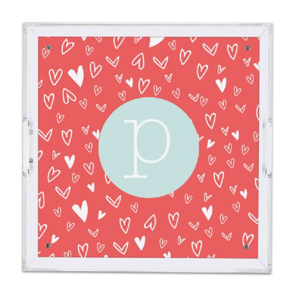 Love It Personalized Square Serving Tray (Lucite)