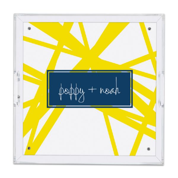 Pick Up Stix Personalized Square Serving Tray (Lucite)
