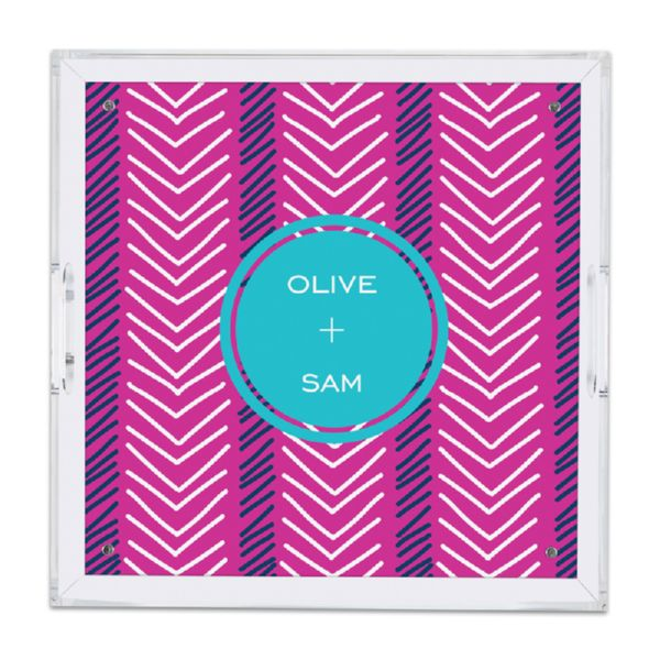 Topstitch Personalized Square Serving Tray (Lucite)