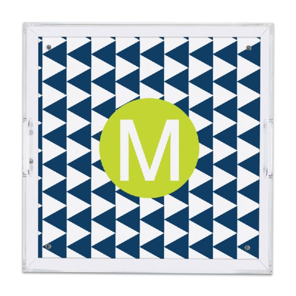 Try Me Personalized Square Serving Tray (Lucite)