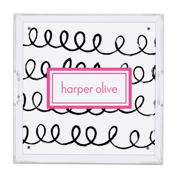Weeeee Personalized Square Serving Tray (Lucite)