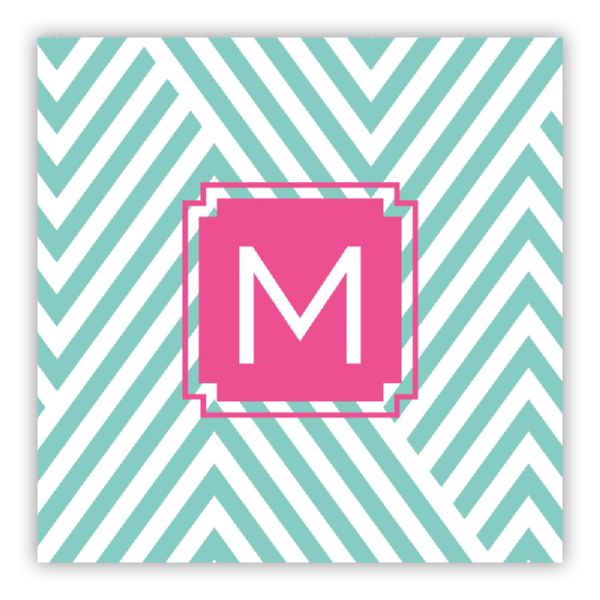 Modern Chevron Personalized Square Lucite Serving Tray Insert Refill