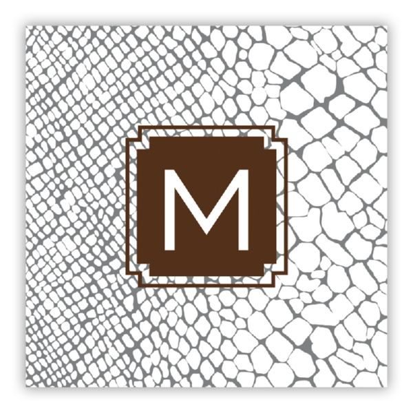 Snakeskin Personalized Square Lucite Serving Tray Insert Refill