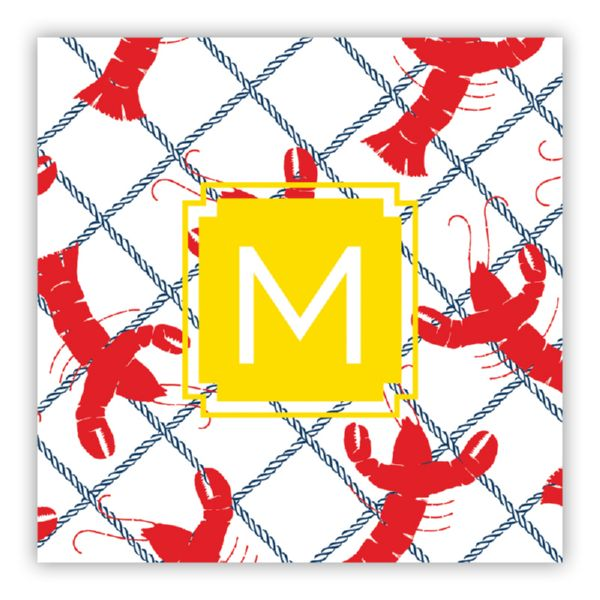 Rock Lobster Personalized Square Lucite Serving Tray Insert Refill