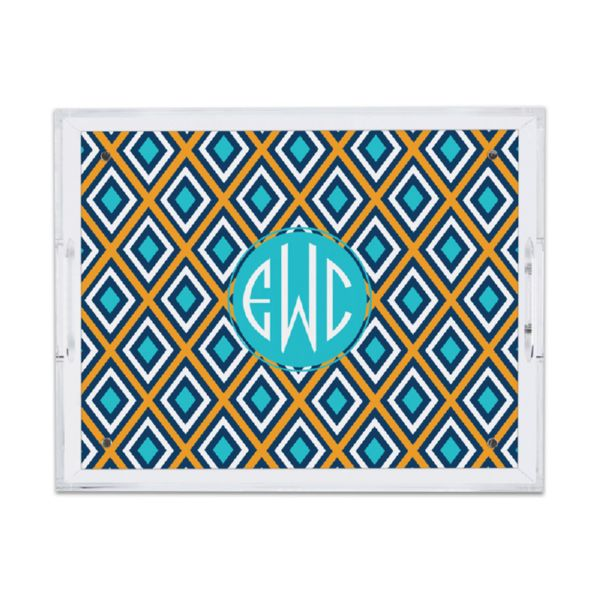 Lantern Personalized Small Serving Tray (Lucite)