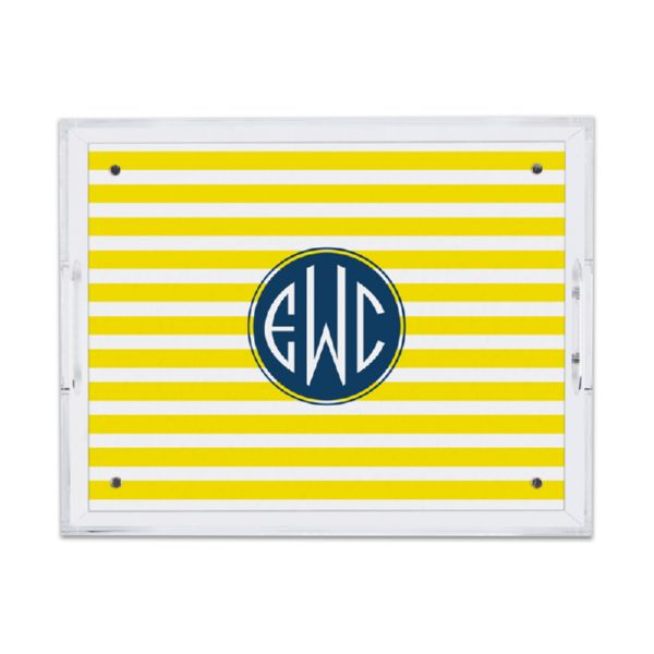 Cabana Personalized Small Serving Tray (Lucite)