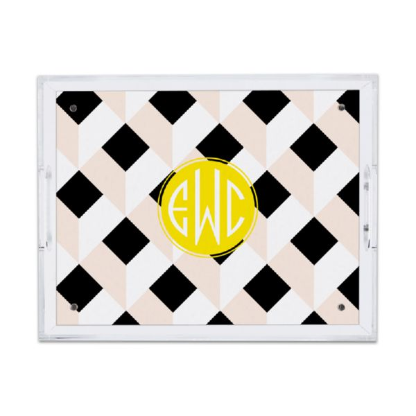 Golden Girl Personalized Small Serving Tray (Lucite)