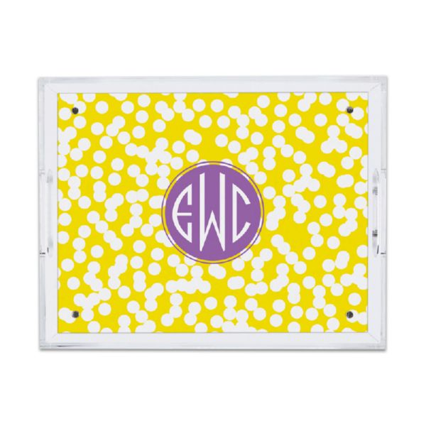 Hole Punch Personalized Small Serving Tray (Lucite)