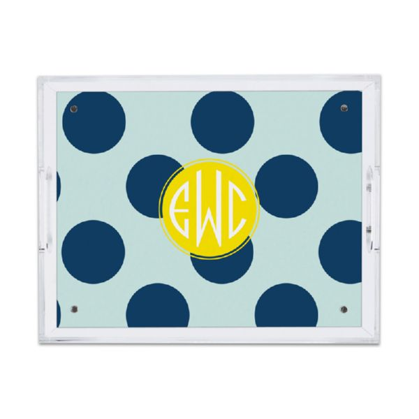 Jane Personalized Small Serving Tray (Lucite)