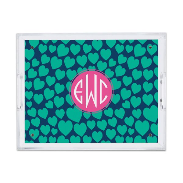 Love Struck Personalized Small Serving Tray (Lucite)