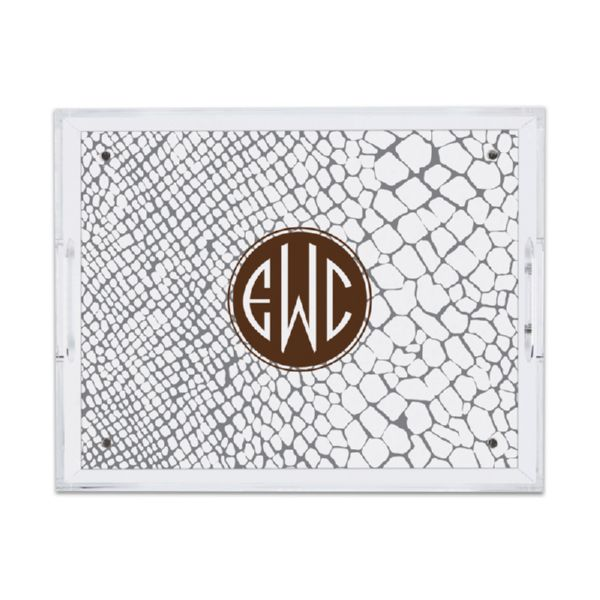 Snakeskin Personalized Small Serving Tray (Lucite)