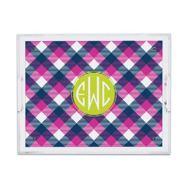 Tartan Personalized Small Serving Tray (Lucite)