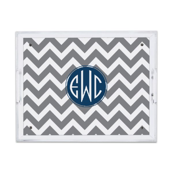 Ollie Personalized Small Serving Tray (Lucite)