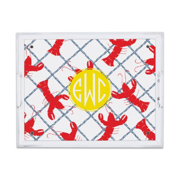 Rock Lobster Personalized Small Serving Tray (Lucite)