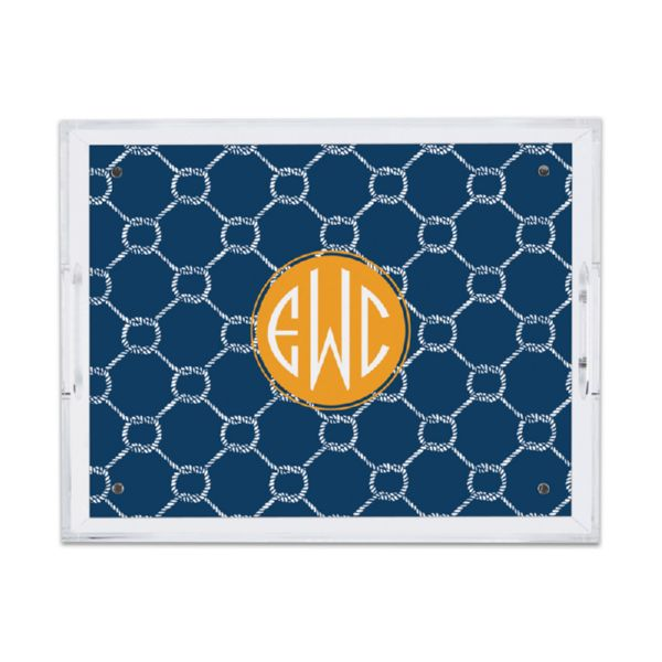 Rope Personalized Small Serving Tray (Lucite)