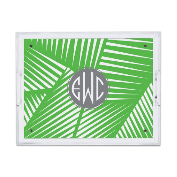 Palm Personalized Small Serving Tray (Lucite)
