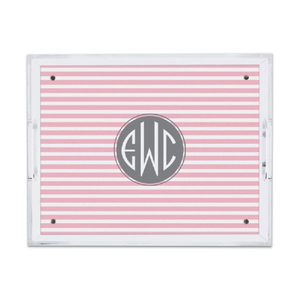 Cabana 2 Personalized Small Serving Tray (Lucite)