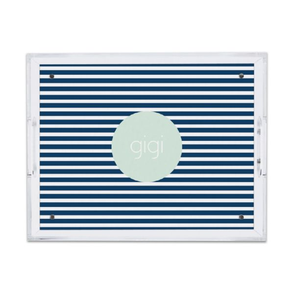 Cabana 3 Personalized Small Serving Tray (Lucite)