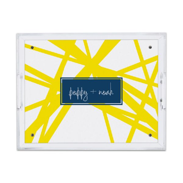 Pick Up Stix Personalized Small Serving Tray (Lucite)