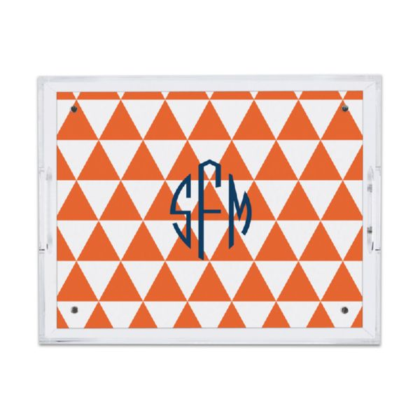 Triangles Personalized Small Serving Tray (Lucite)