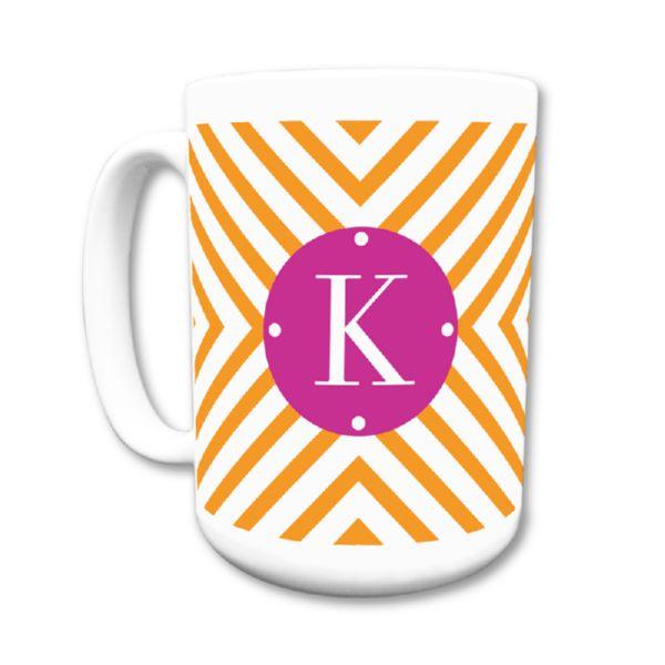 Chevron Personalized Coffee Mug 15oz