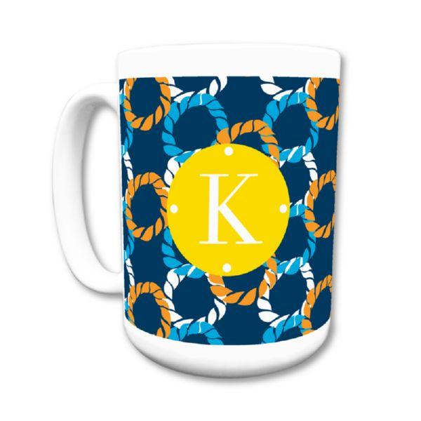 Nautical Knots Personalized Coffee Mug 15oz