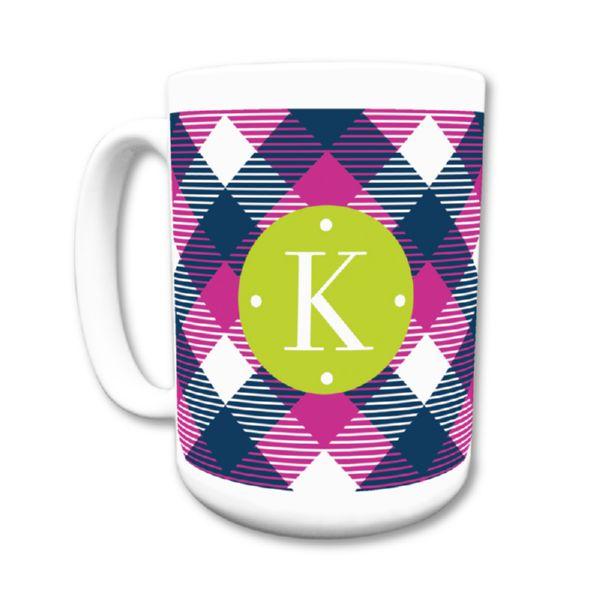 Tartan Personalized Coffee Mug 15oz