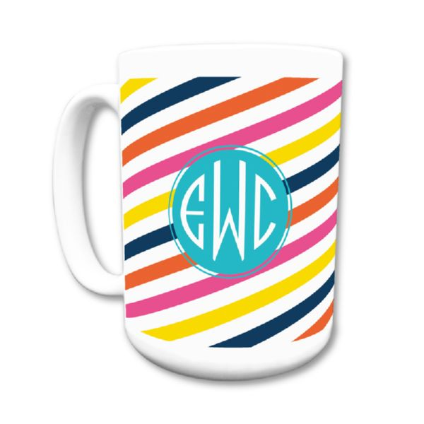 Fruit Stripe Personalized Coffee Mug 15oz