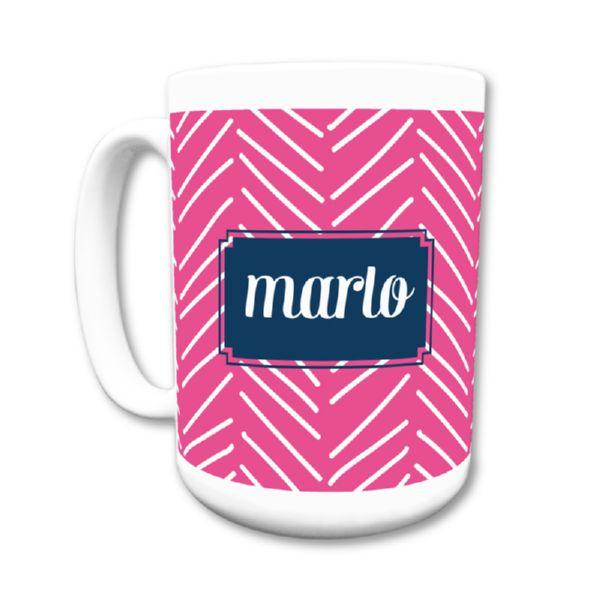 Little Lines Personalized Coffee Mug 15oz