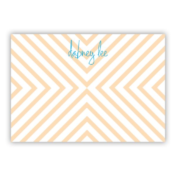 Chevron Personalized Desk Pad, 150 sheets